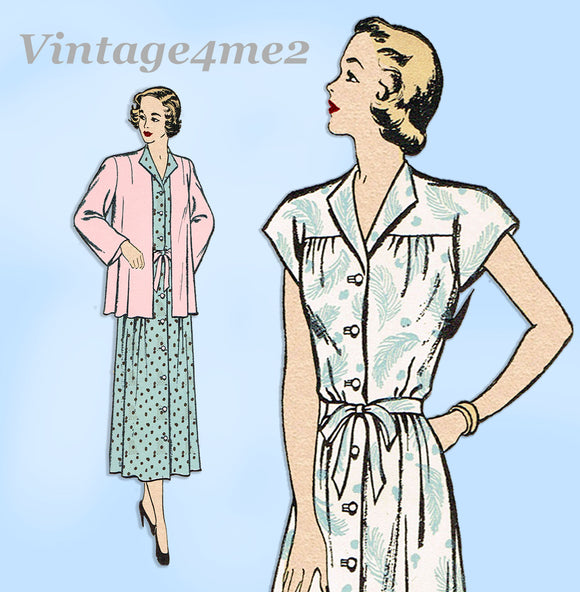New York 409: 1940s Uncut Maternity Dress & Jacket 34B Vintage Sewing Pattern