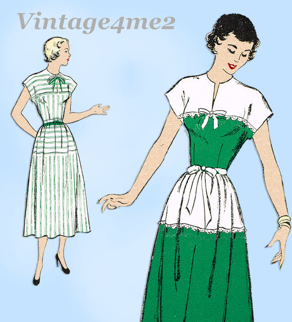 New York 657: 1940s Uncut Misses Street Dress Sz 32 Bust Vintage Sewing Pattern