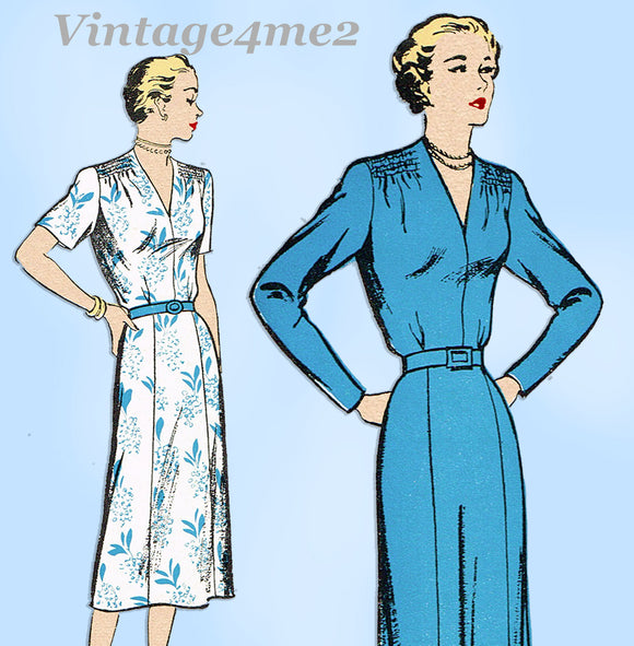 New York 951: 1950s Uncut Misses Street Dress Size 32 B Vintage Sewing Pattern