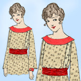 New Idea 9364: 1910s Plus Size Ladies Waist or Blouse 40B Vintage Sewing Pattern