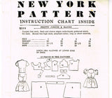 New York 1225: 1950s Cute Toddler Girls Jumper Sz 3 Vintage Sewing Pattern