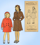 1930s Pictorial Review Sewing Pattern 6770 Uncut Toddler Girls Coat & Hat Sz 2 -Vintage4me2