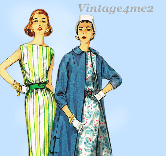 Simplicity 1911: 1950s Easy Misses Dress and Jacket Sz 36 B Vintage Sewing Pattern