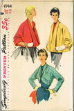 1950s Vintage Simplicity Sewing Pattern 4944 Uncut Misses Jacket Set Size 12 30B