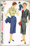 1950s Vintage Misses' 3 pc Suit Uncut Simplicity Sewing Pattern 1041 Size 12