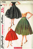1950s Vintage Misses Simple Skirt Uncut 1955 Simplicity Sewing Pattern 1086 25W