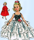 1950s Vintage Simplicity Sewing Pattern 2293 Uncut 18in High Heel Revlon Doll Clothes