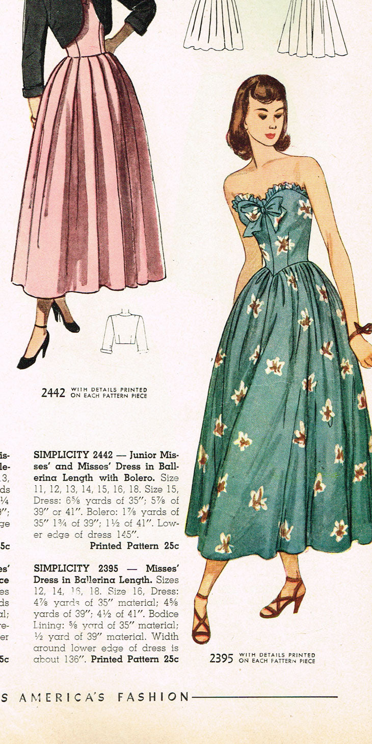 1940s Vintage Simplicity Sewing Pattern 2