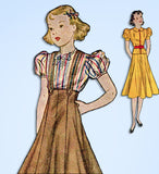 1930s Vintage Simplicity Sewing Pattern 2637 Little Girls 3 Piece Suit Size 10