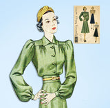 1930s Vintage Simplicity Sewing Pattern 2758 Misses Skirt and Blouse Sz 36 Bust - Vintage4me2
