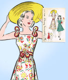 1930s Vintage Simplicity Sewing Pattern 2829 Uncut Misses Sun Dress Size 34 Bust