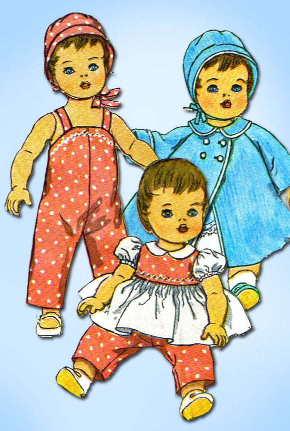 1960s Vintage Simplicity Sewing Pattern 3669 20 In Tiny Tears Baby Doll Clothes Vntage4me2