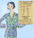 Simplicity 377: 1930s Plus Size Afternoon Dress 50 Bust Vintage Sewing Pattern - Vintage4me2