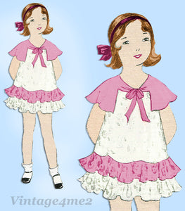 Simplicity 448: 1930s Uncut Little Girls Dress Size 8 Vintage Sewing Pattern - Vintage4me2