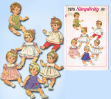 1960s Vintage Simplicity Sewing Pattern 7970 12 13 In Betsy Wetsy Doll Clothes Uncut