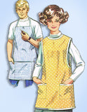 1960s Vintage Simplicity Sewing Pattern 7974 His & Hers Apron Set Size Medium