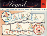 1950s Vintage Vogart Embroidery Transfer 108 Uncut His and Hers Pillowcase Motifs - Vintage4me2