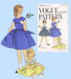 Vogue 2803: 1950s Toddler Girls Jumper or Dress Size 6 Vintage Sewing Pattern