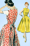 1950s Vintage Vogue Sewing Pattern 8338 Misses Wrap Around Dress Size 12 30B