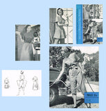 1950s Vintage Woman's Day Sewing Pattern 5048 Uncut Misses Coveralls Sz 34 Bust - Vintage4me2
