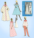 1950s Vintage Woman's Day Sewing Pattern 5076 Misses Nightgown & Housecoat MED