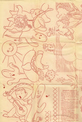 1940s Workbasket Embroidery Transfer #90 Mexicana DOW Uncut Darlin ORIGINAL