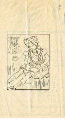 1940s Vintage Anne Adams Sewing Pattern 4330 Toddler Girls Pinafore Dress Size 4