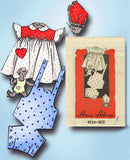 1940s Vintage Anne Adams Sewing Pattern 4524 Toddler Girls Romper & Dress Size 1 - Vintage4me2