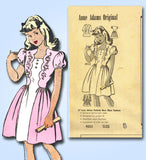 1940s Vintage Anne Adams Sewing Pattern 4532 Girls Scalloped Dress Size 8 26B - Vintage4me2