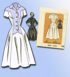 1950s Vintage Anne Adams Sewing Pattern 4616 Uncut Misses Dress Size 18 36B