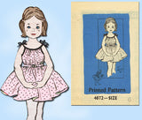 1950s Vintage Toddler Girls Sun Dress VTG Anne Adams Sewing Pattern 4672 Size 6