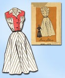 1950s Vintage Anne Adams Sewing Pattern 4698 Uncut Misses House Dress Size 12