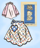 Anne Adams 4726: 1960s Misses Cockail Apron Set Sz MED Vintage Sewing Pattern - Vintage4me2