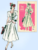 1940s Vintage Anne Adams Sewing Pattern 4861 Misses Peplum Suit Size 36 Bust
