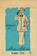 1950s Vintage Anne Adams Sewing Pattern 4880 Misses Maternity Suit Size 14 32B