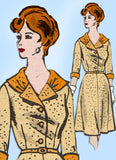 1960s Vintage Anne Adams Sewing Pattern 4970 Uncut Plus Shirtwaist Dress Sz 41 B - Vintage4me2