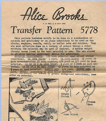 1930s Vintage Alice Brooks Embroidery Transfer 5778 Uncut Cutwork Bird Motifs