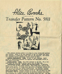 1940s Vintage Alice Brooks Embroidery Transfer 5811 His and Hers Pillowcases