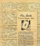 1940s ORIGNAL Uncut Alice Brooks Fancy Floral Bedspread Hot Iron Transfer 5864 - Vintage4me2