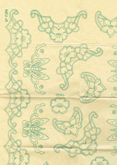 1930s Original Vintage Alice Brooks Embroidery Transfer 6364 Uncut Cutwork Pcase