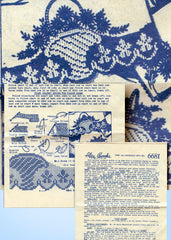 1940s Lazy Daisy Transfer Filet Crochet Edge Pillowcase Alice Brooks 6681