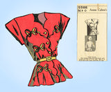 Anne Cabot 5586: 1940s Misses Scalloped Blouse 14/16/18 Vintage Sewing Pattern