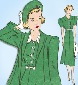 1930s Rare Vintage Advance Sewing Pattern 1784 Official 4-H Uniform Dress Sz 38B - Vintage4me2