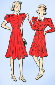 1930s Vintage Advance Sewing Pattern 1893 Girls Shirtwaist Dress Size 14 32 Bust - Vintage4me2