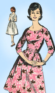 1960s Vintage Advance Sewing Pattern 2766 Easy Misses Dress Size 14 34 Bust
