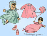 Advance 3453: 1940s Cute Baby's Layette Set w Booties Vintage Sewing Pattern - Vintage4me2