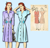 1940s Vintage Advance Sewing Pattern 3931 Uncut WWII Misses Dress Size 32 Bust - Vintage4me2