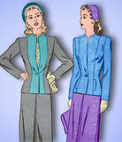 1940s Vintage Advance Sewing Pattern 3964 Uncut Misses WWII Suit Size 14 32 Bust - Vintage4me2