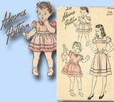 1940s Vintage Advance Sewing Pattern 4152 Post WWII Little Girls Dress Size 12 - Vintage4me2