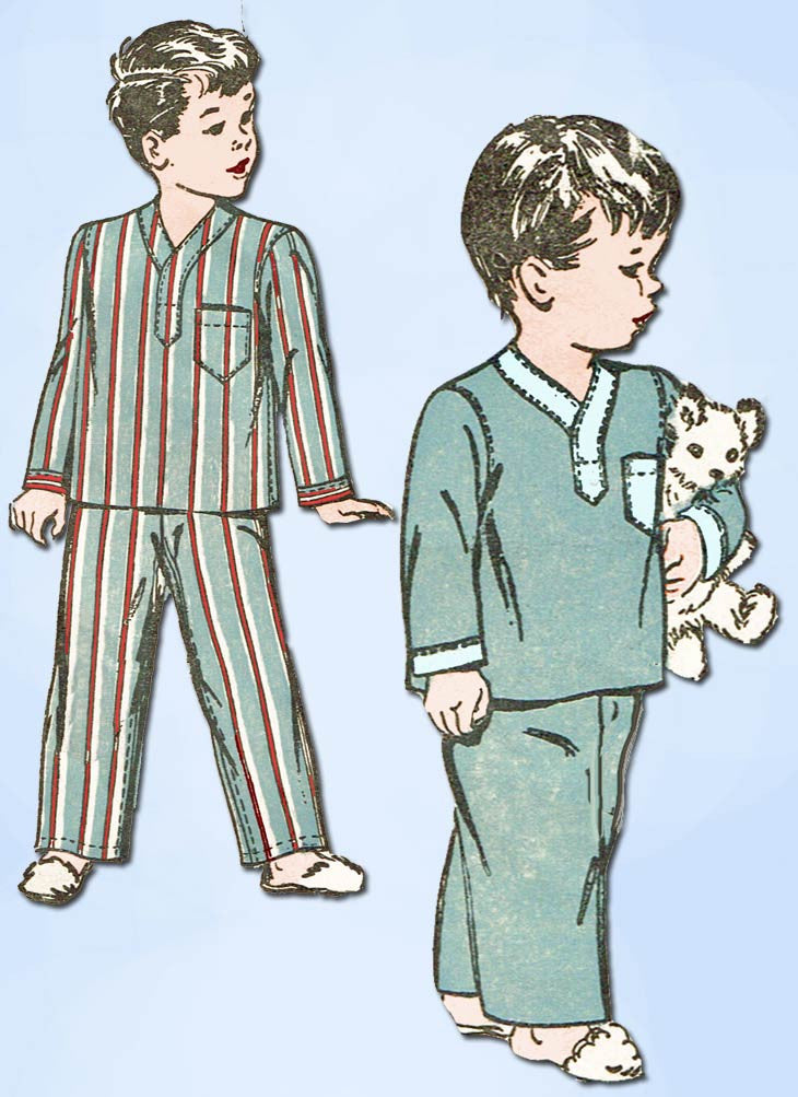 1940s Vintage Advance Sewing Pattern 4190 Uncut Little Boy\'s 2 PC ...